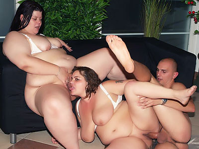 Mature Fatties group fucked