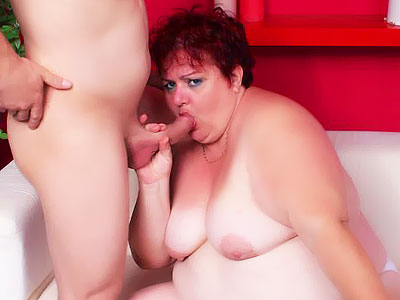 What can you say about Margaret? If hefty mature ladies are your thing, then you wouldnt want to miss this scene with a fat older redhead sucking off a cock and takes it in different pleasurable positions and her massive belly is truly a sight to behold.