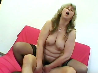 chubby Mature Pussy Plugged with a Dick