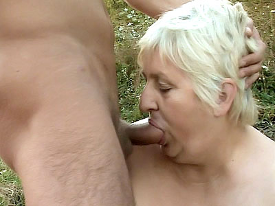 older man Blonde Guzzles Dick