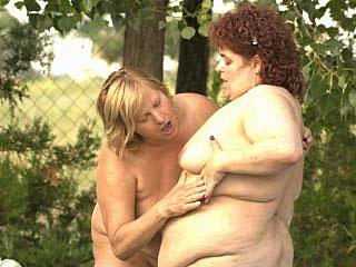 Fat Mature Lesbians mounds Tease