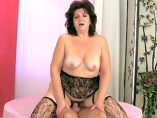 Fatty Older Babe Riding a Boner